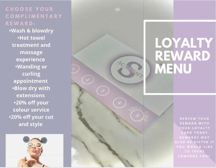 The Secret Salon Academy Reward Scheme