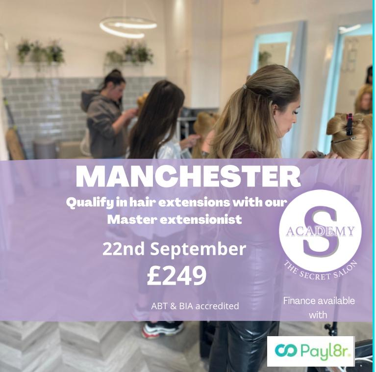 Hair Extension training course in manchester